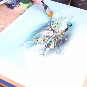 Acrylic Abstract Painting Easy - Speed Painting - 'The Showman' by Rinske Douna