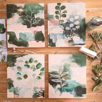 Botanical Abstracts Studio scenes from today! I am having a botanical moment and LOVING it ??