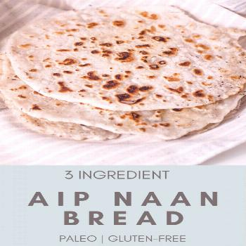 Paleo Naan (AIP, Gluten-free) - Rooted In Healing This fluffy autoimmune paleo bread naan recipe is