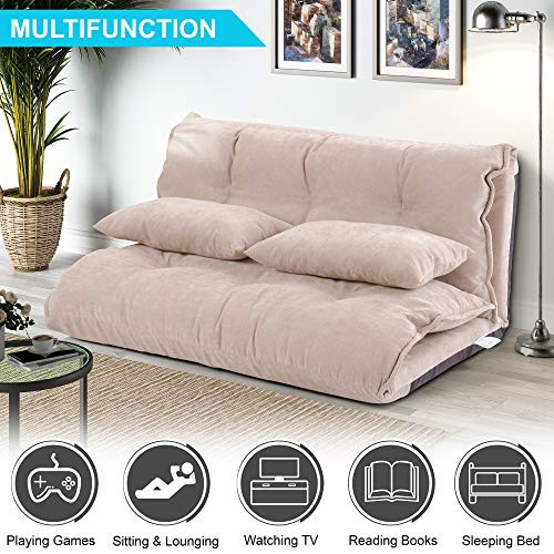 Floor Sofa Bed, Foldable Sleeper Sofa Bed, Lounge Couch,