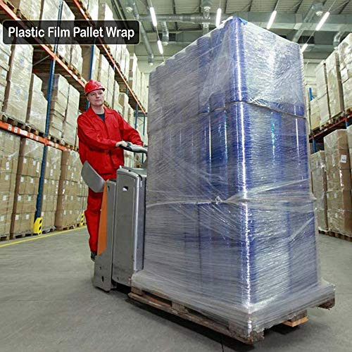Plastic Film Pallet Wrap with Handle, 5 Inches X 1000 Feet,